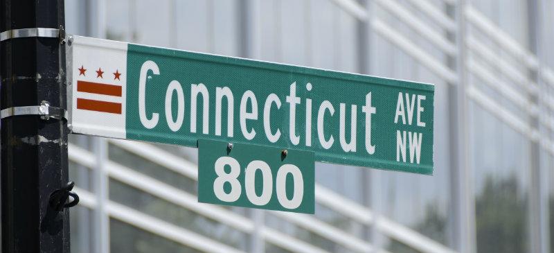 Connecticut avenue street sign